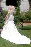 Robe de mariée soie sauvage et organza modèle unique