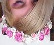 Belle couronne de fleurs rose et blanc - Occasion du Mariage
