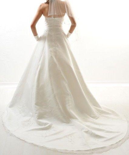 Robe de mariée T42 avec jupon et chale d'occasion