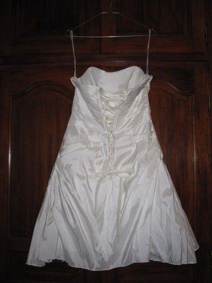 Robe de Mariée courte d'occasion couleur Ivoire T38/44