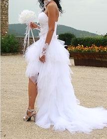 Robe de mariée d'occasion Annie couture courte devant Longue derrière T34