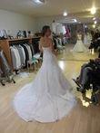 robe de mariée perle et dentelle - Occasion du Mariage