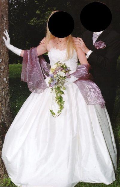 Robe de mariée pure soie + bustier pas cher - Occasion du Mariage