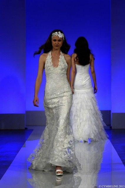 Robe de mariée Cymbeline modèle Galante en dentelle de Calais