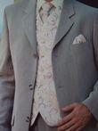 Chemise col mao + bustier et cravate à l'occasion de votre mariage