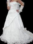 Robe de mariée bustier et traine taille 38-40 - Occasion du Mariage