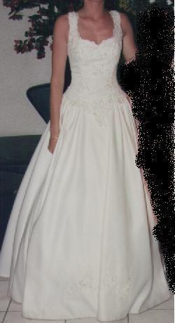 Robe de mariée Complicité avec bustier d'occasion, satin royal