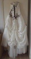 robe de mariée ivoire / chocolat - Occasion du Mariage