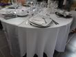 Nappes rondes blanches 290 cm location IDF - Occasion du Mariage