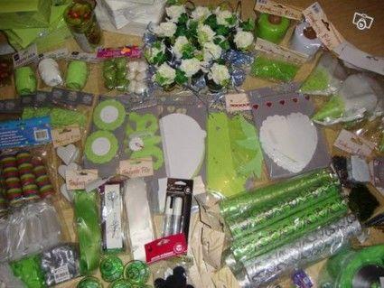 Décoration de mariage vert anis argent pas cher en 2012 - Occasion du Mariage