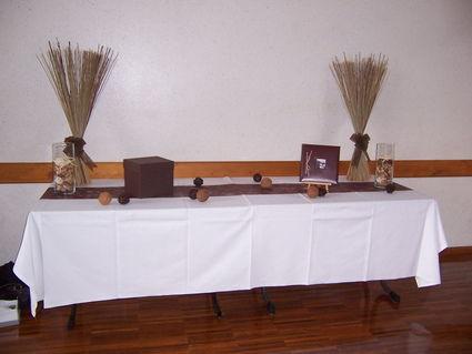 ... salle mariage et table chocolat ivoire pas cher - Occasion du Mariage