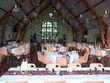 Déco salle et table chocolat ivoire - Occasion du Mariage