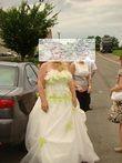Robe de mariée Annie Couture  Ivoire et Verte d'occasion