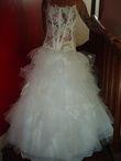 Robe de mariée Cymbeline d'occasion avec jupon, cerceau et voile T38