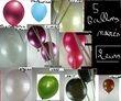 lot de 5 ballons nacres  ou + au choix - Occasion du Mariage