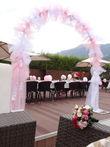 Déco salle/tables Rose et Blanc - Occasion du Mariage