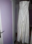 Robe bustier +boléro en satin duchesse de soie taille 38-40 - Drôme