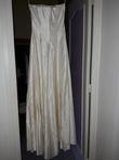 Robe bustier +boléro en satin duchesse de soie taille 38-40 - Occasion du Mariage