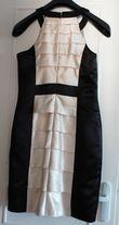 robe 36 ALAIN MANOUKIAN ivoire et noir - état neuf  - Occasion du Mariage