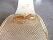Alliances de mariage neuves en or blanc et jaune