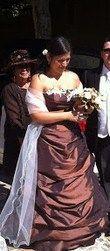 robe de mariée chocolat/ivoire - Occasion du Mariage