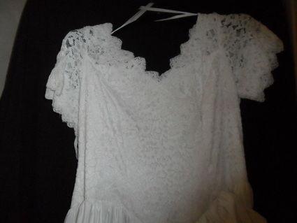 Ensemble robe de mariée pas cher T44/46 en Bretagne 2012 - Occasion du Mariage