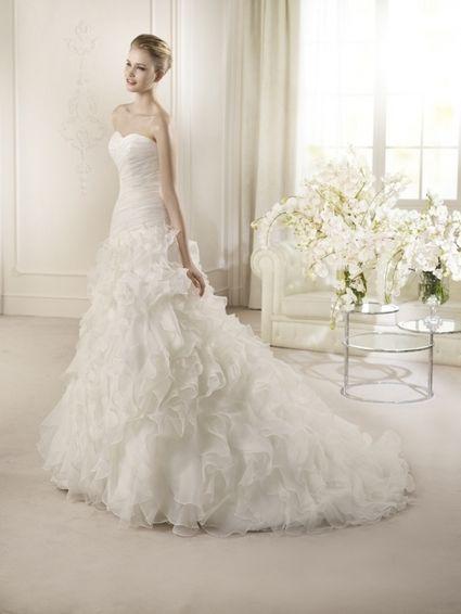 Robe de mariage San Patrick T38 en blanc naturel neuve