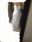 Robe de mariée NEUVE style Elie Saab avec petite traîne