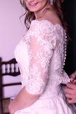 Robe de mariée dentelles et taffetas - Occasion du Mariage