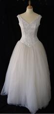 Robe de mariée pas cher, buste est brodé de perles - Occasion du mariage