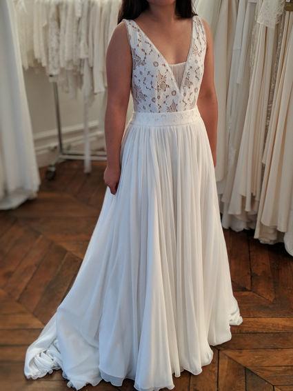 Rembo styling - Robe de mariée HOPE t36 dentelle et dos nu - Essonne