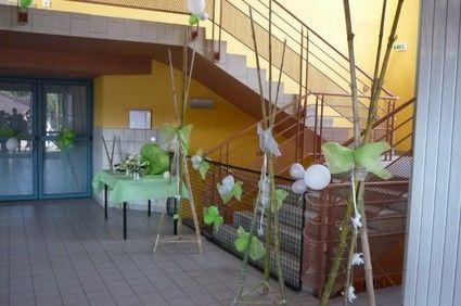 15 Mobiles verts, gris et blancs en déco de mariage - Occasion du Mariage