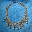 Collier de perles grises en bijoux de mariage