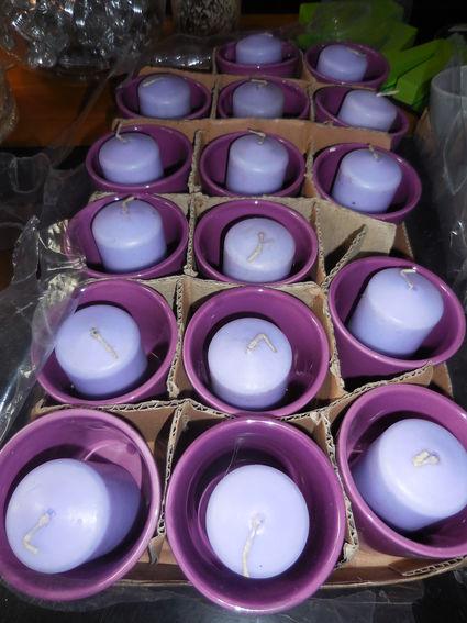 15 photophores violet bougies mauves compris - Val de Marne
