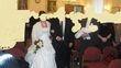 2 Robes de mariée blanche et rouge + jupon + diadème + boléro