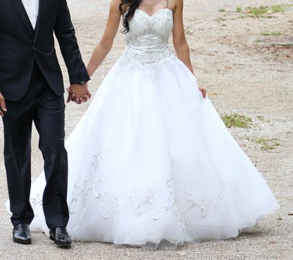Robe de mariée princesse  - Côte d'or