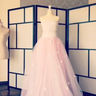Robe de mariée Sabina création Alisa en blanche et rose d'occasion - Alpes Maritimes