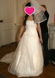 Belle robe bustier avec traîne qui s'attache - Occasion du Mariage