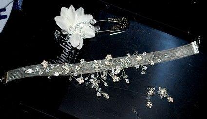 Boucles d'oreille et collier de mariée assortis pas cher - Occasion du Mariage