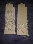Mitaine ivoire / écru avec strass et dentelle - Occasion du Mariage