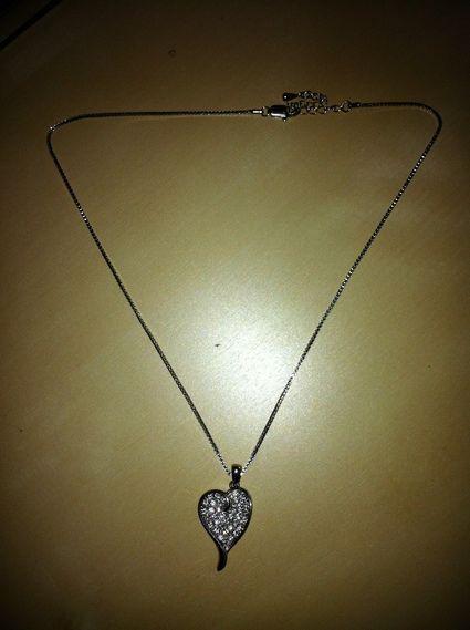Collier coeur de mariée d'occasion / Bijoux de mariage