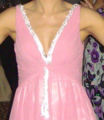 Robe de soirée en mousseline rose pas cher d'occasion 2012 - Ile de France - Paris - Occasion du Mariage