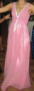Robe de soirée en mousseline rose - Occasion du Mariage