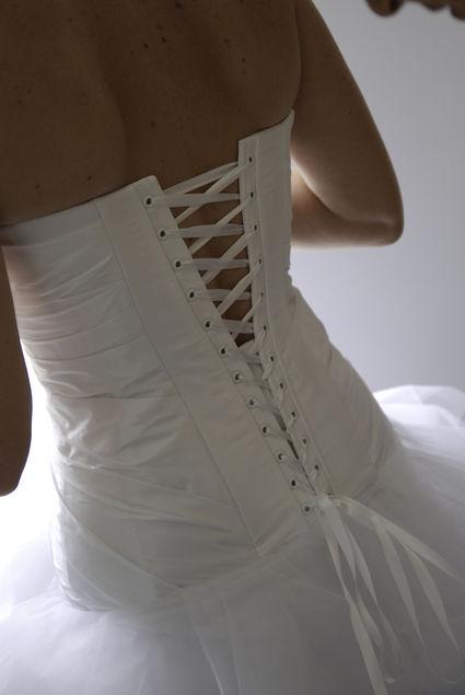 Robe de mariée cymbeline d'occasion avec jupon et bustier