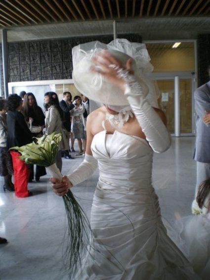 Robe de mariée Pronovias modèle Megan d'occasion collection couture 2010