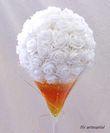 Boules de roses blanche xl 40cm deco mariage  - Occasion du Mariage