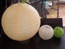 Lanternes boules japonaises à l'occasion de votre mariage