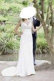 Robe de mariée créateur d'occasion en satin de soie couleur ivoire