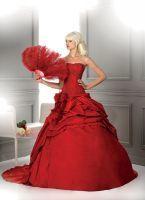 Robe de mariée couleur rouge jamais porté T42
