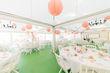 Lot 100 lanternes en papier de soie blanche et corail - Occasion du Mariage